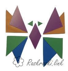 Розмальовки Аплікації аплікація з геометричних фігур дітям