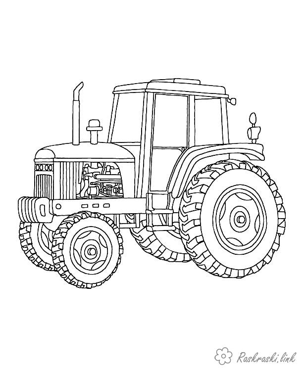 Розмальовки Будівельна техніка трактор як будівельна техніки