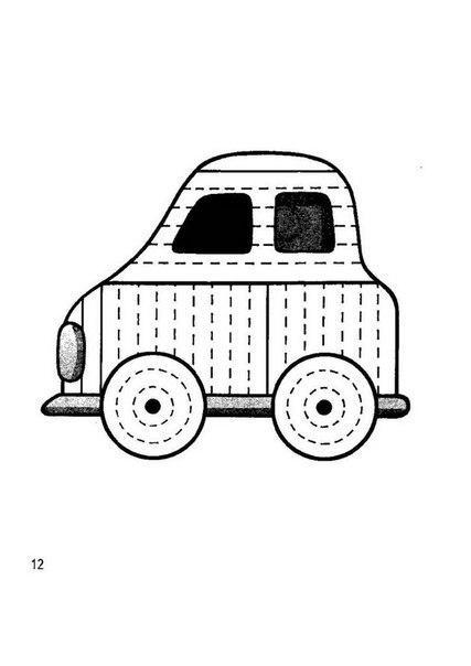 Розмальовки Штрихування для дітей машина