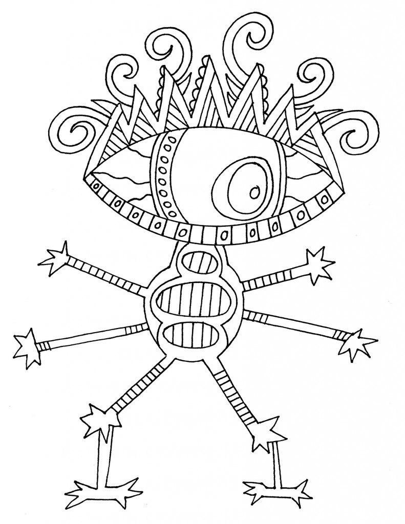 Coloring Boys Funny funny aliens coloring pages