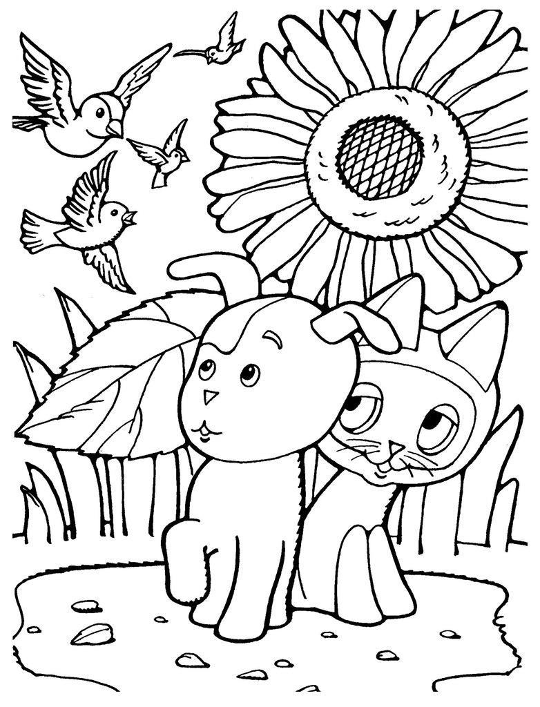 Розмальовки Кошеня Гав