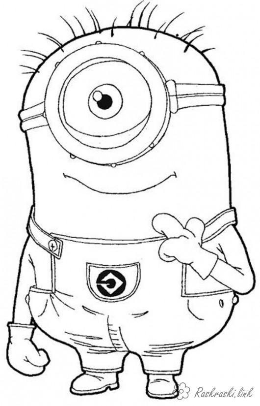 Coloring cartoons Despicable Me, coloring pages, mignon, one-eyed, despicable me
