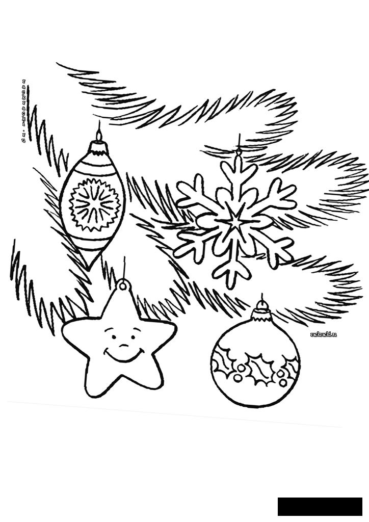 Coloring New Year coloring pages books for children, black and white pictures, new year, holiday, winter, herringbone