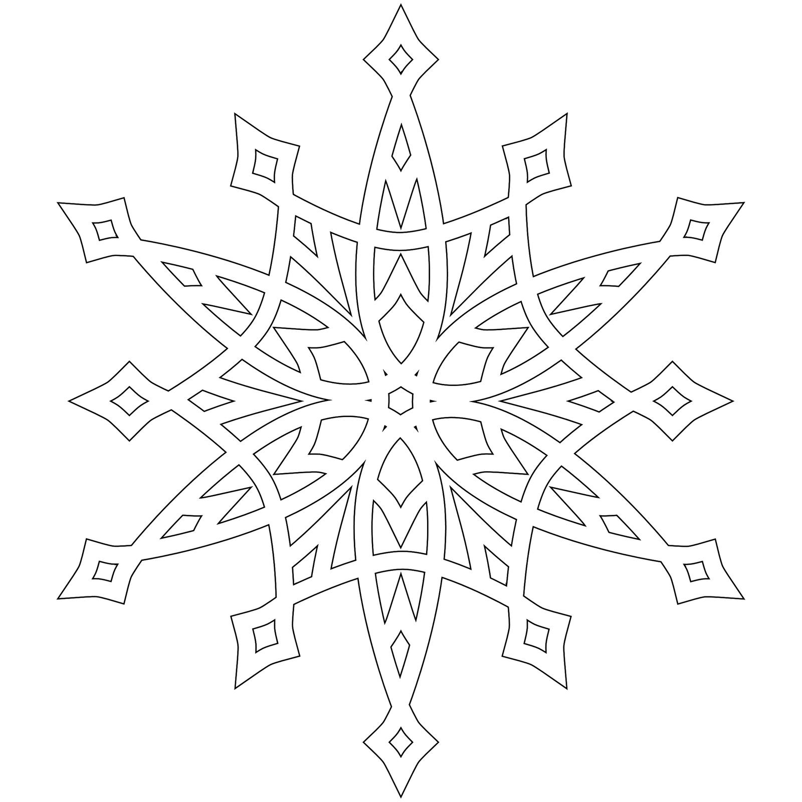 Coloring snowflakes Snowflake coloring pages
