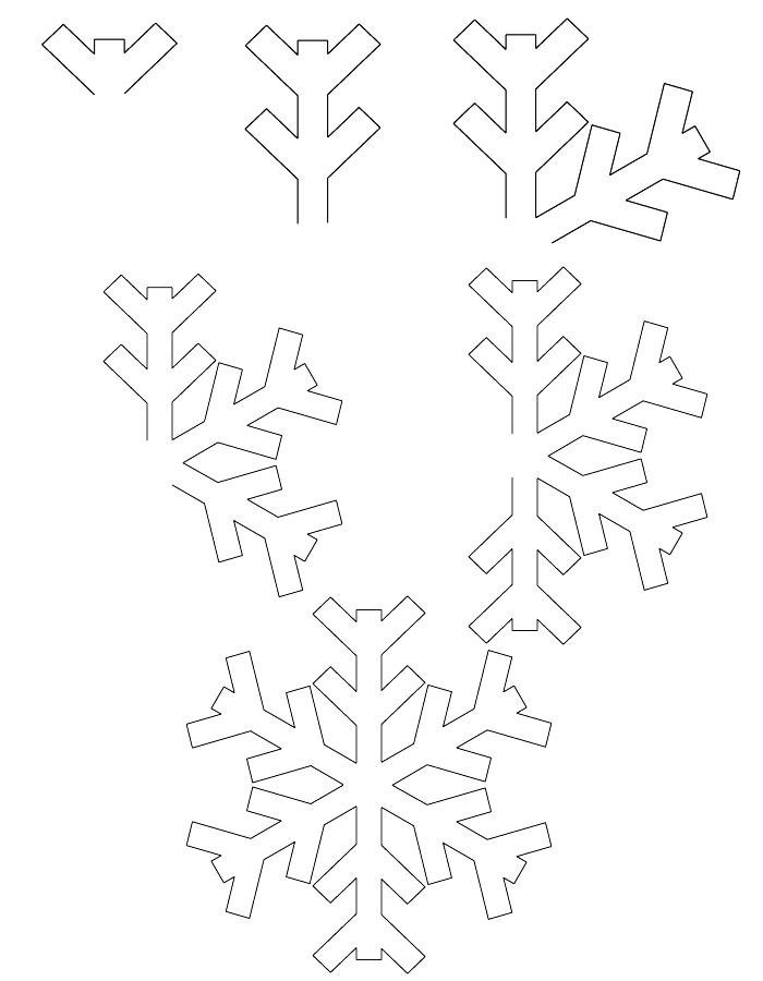 Coloring snowflakes Snowflake Paper masterclass