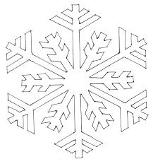 Coloring snowflakes stencils and contours diy snowflake