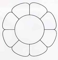 Розмальовки Шаблони трафарети контури квіти шаблони для виробів та аплікації, контури квітів, креслення