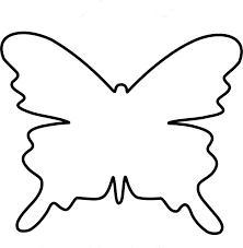 Розмальовки Шаблони трафарети контури шаблони метеликів для розфарбовування і виробів