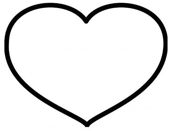 Розмальовки Шаблони трафарети контури сердечка з паперу, сердечка шаблони