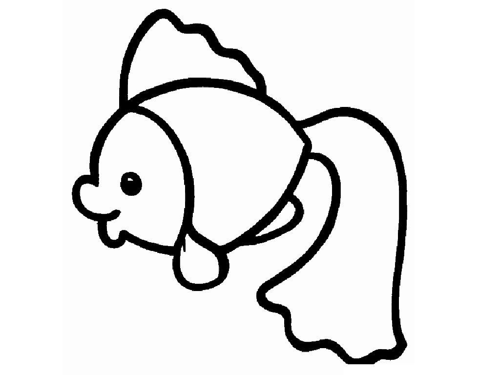 Розмальовки Шаблони трафарети контури вирізаємо риб з паперу