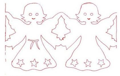 Coloring Patterns stencils contours template, garlands, Christmas, symmetrical cutting