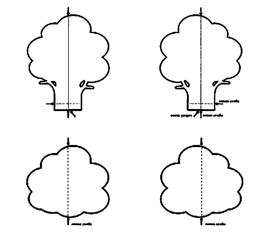 Coloring Trees for cutting paper Pattern of wood, cut from paper
