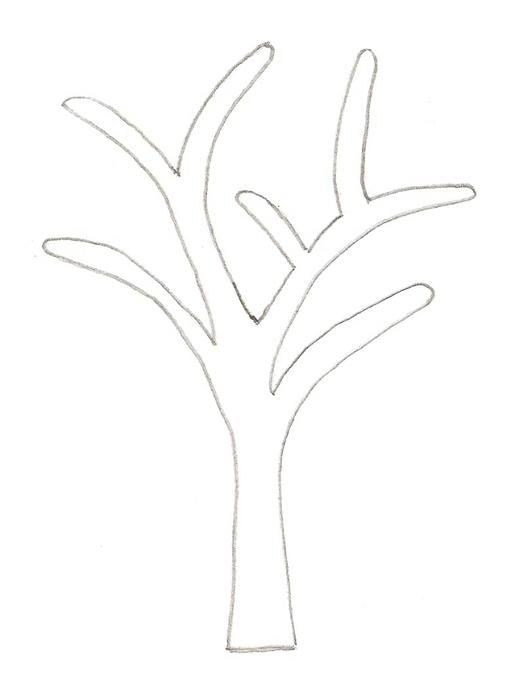 Coloring Trees for cutting paper coloring pages tree on a path