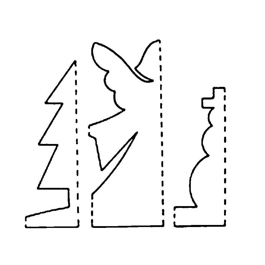 Coloring Trees for cutting paper stencil for cutting wood carving symmetrical