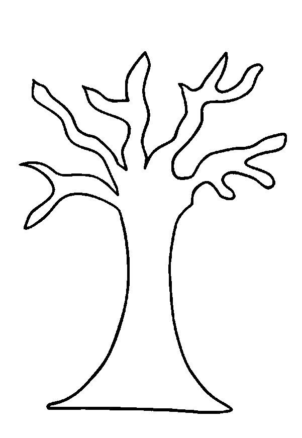 Coloring Trees for cutting paper Pattern tree with curved branches