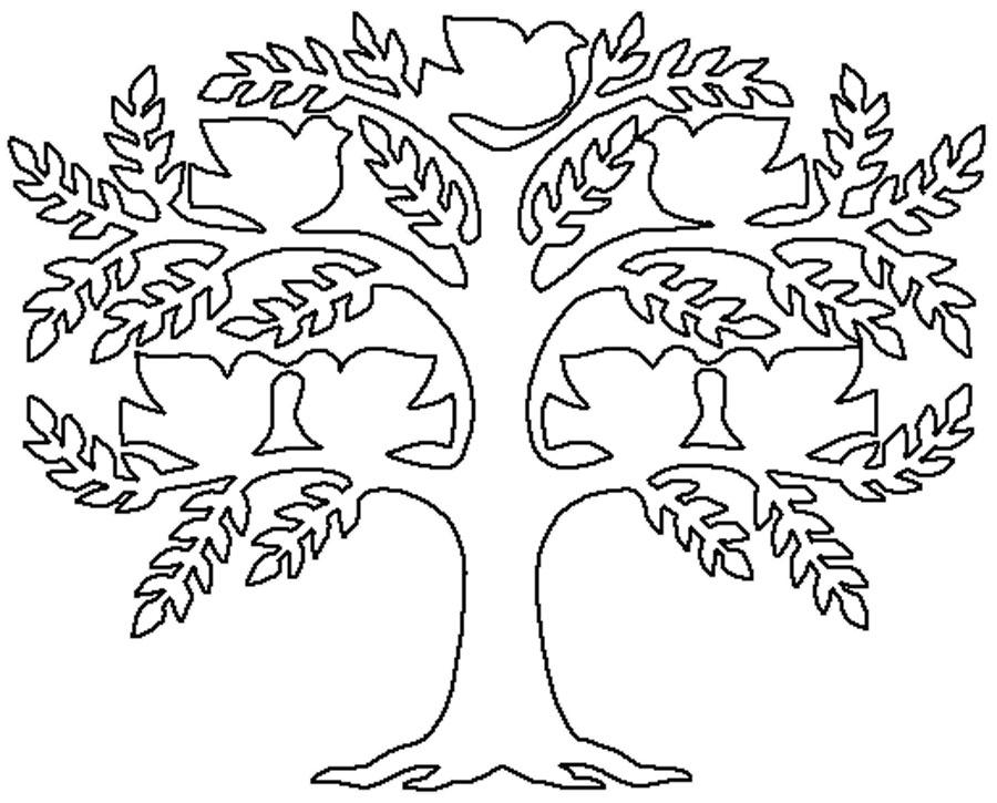 Coloring Trees for cutting paper Family Tree Template