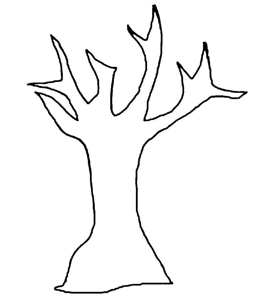 Раскраски дерево ужасающее дерево вырезаем из бумаги