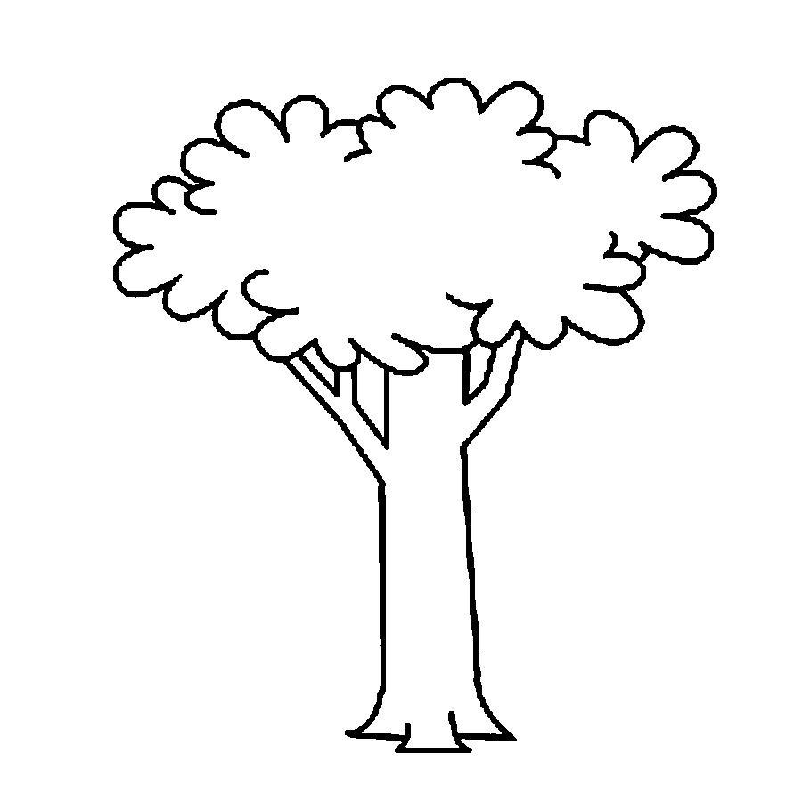 Раскраски дерево вырезаем дерево с кроной по шаблону