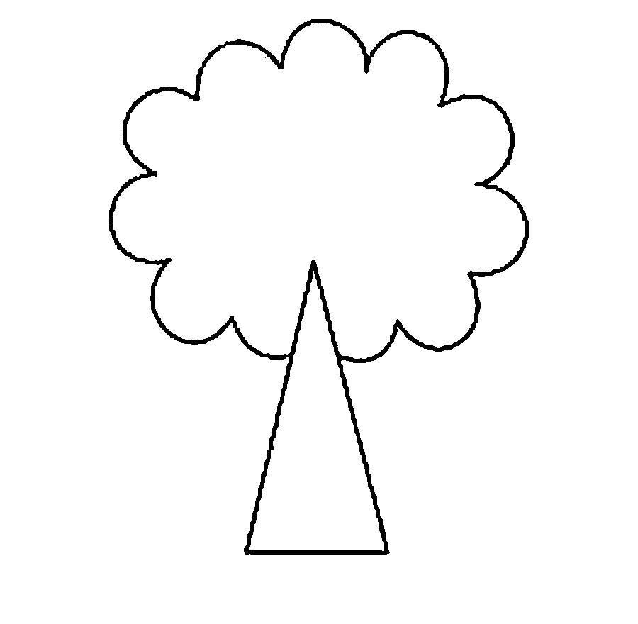 Раскраски дерево треугольник стебель раскраска дерева для вырезания