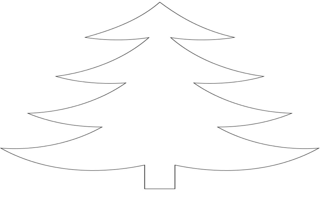 Розмальовки Новорічна ялинка шаблон для вирізання з паперу контур ялинки, вирізаємо ялинку з паперу. оформляємо до нового року приміщення
