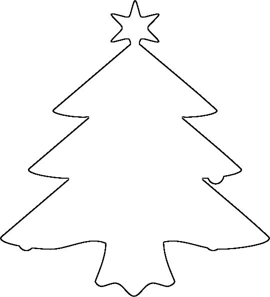 Coloring Christmas tree pattern to cut paper Christmas tree stencil