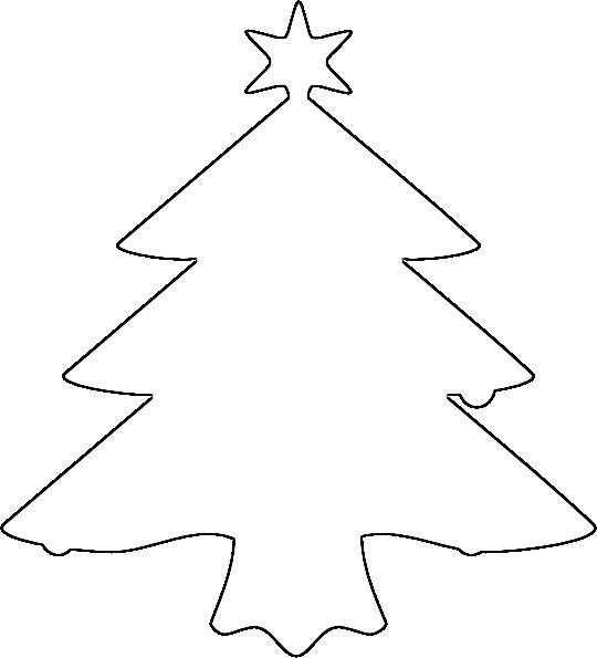 Розмальовки Новорічна ялинка шаблон для вирізання з паперу Новорічна ялинка трафарет