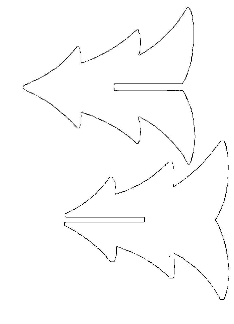 Розмальовки Новорічна ялинка шаблон для вирізання з паперу саморобка ялинка з картону і фанери