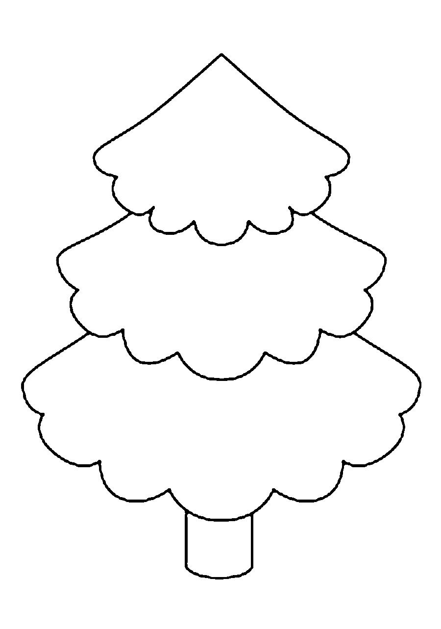 Coloring Christmas tree pattern to cut paper Pattern tree