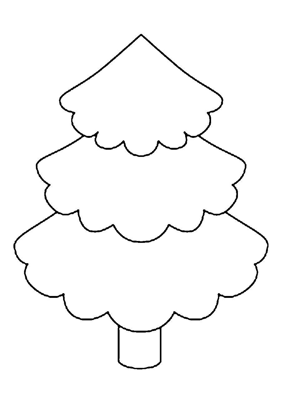 Розмальовки Новорічна ялинка шаблон для вирізання з паперу шаблон ялинки