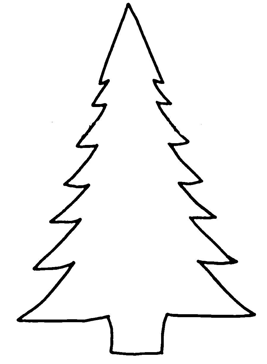 Coloring Christmas tree pattern to cut paper