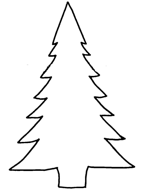 Розмальовки Новорічна ялинка шаблон для вирізання з паперу