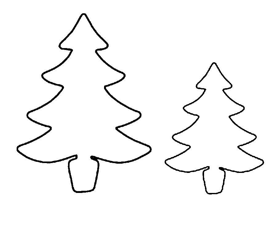 Coloring Christmas tree pattern to cut paper Christmas Tree Pattern online