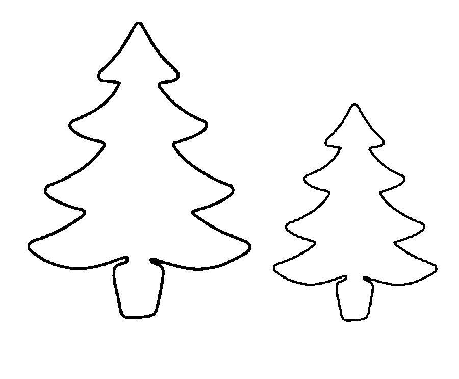 Розмальовки Новорічна ялинка шаблон для вирізання з паперу ялинка новорічна викрійка онлайн