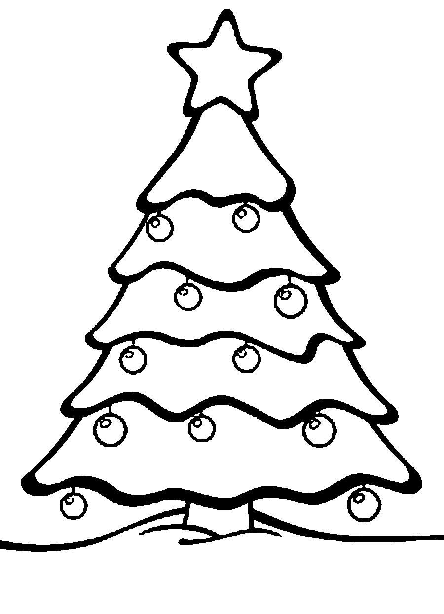 Coloring Christmas tree pattern to cut paper star, Christmas decorations