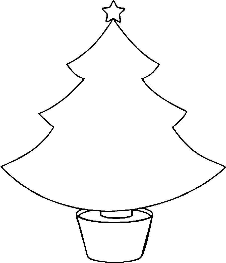 Новогодняя елка шаблон для вырезания из бумаги Раскраски ...