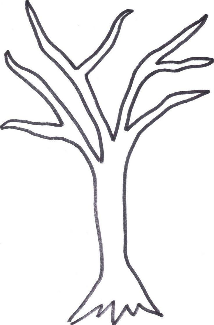 Розмальовки Дерева без листя падлюка аплікація дерево матеріал