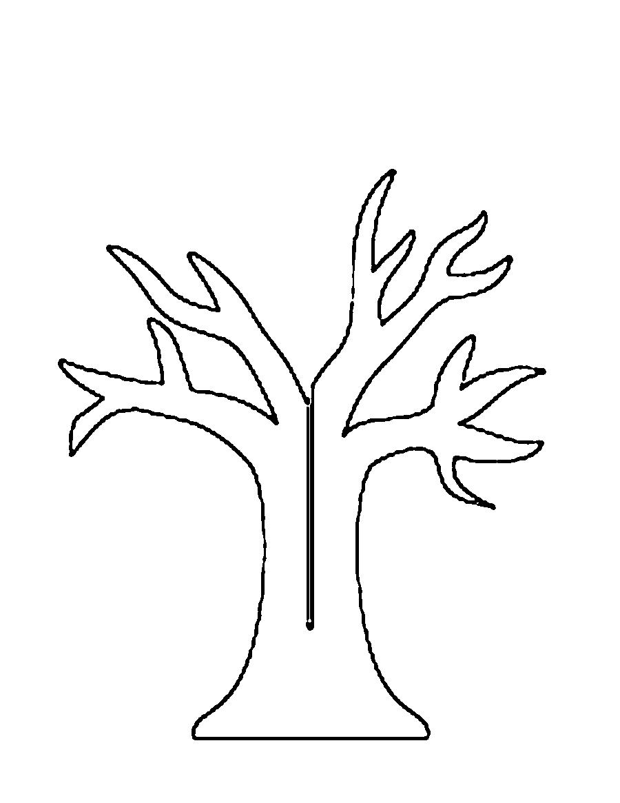 Розмальовки Дерева без листя