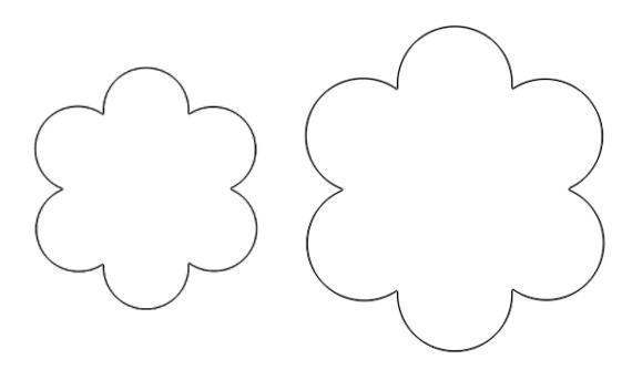 Розмальовки Квіти шаблони для вирізання трафарет квітки для аплікації