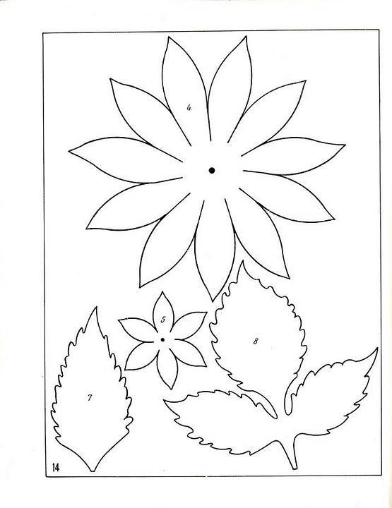 Розмальовки Квіти шаблони для вирізання аплікація квітки в дитячому садку шаблони