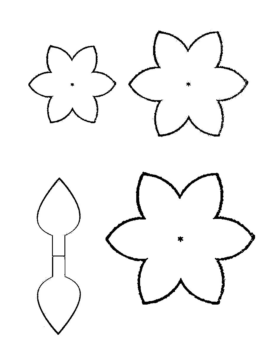 Coloring Flowers templates for cutting flower
