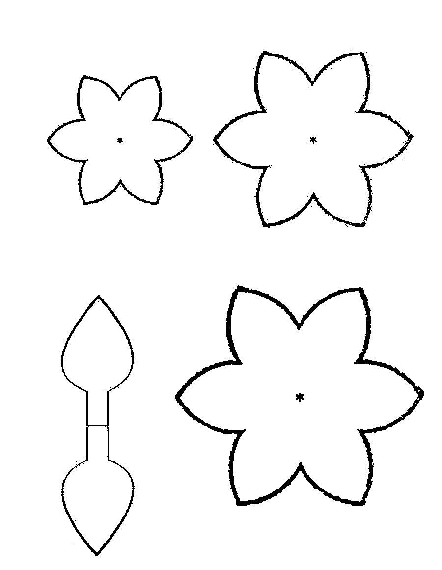 Розмальовки Квіти шаблони для вирізання квітка