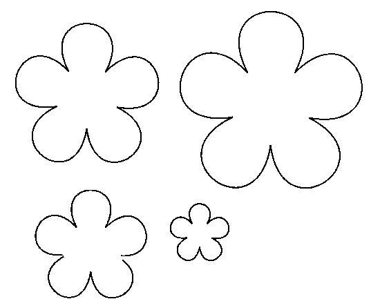 Розмальовки Квіти шаблони для вирізання контур ромашки