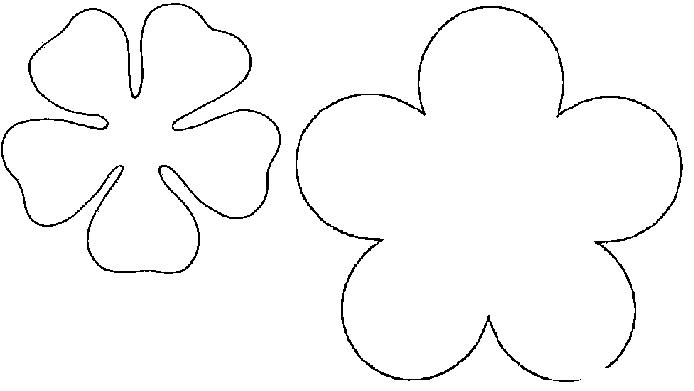 Coloring Flowers templates for cutting applique flowers