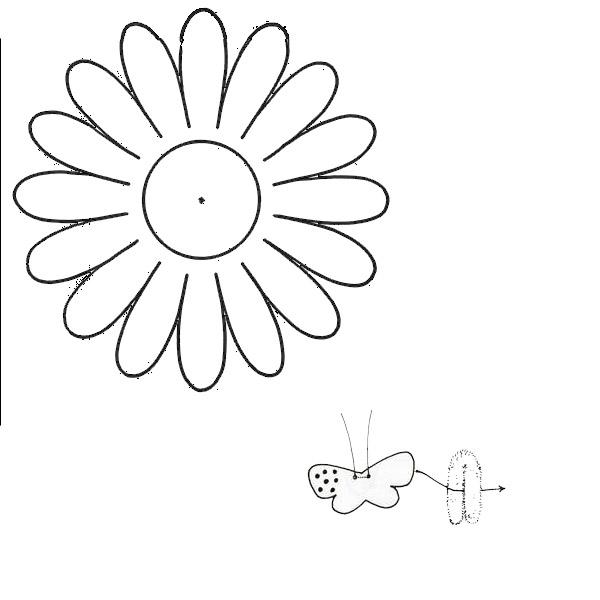 Coloring Flowers templates for cutting daisy appliqué