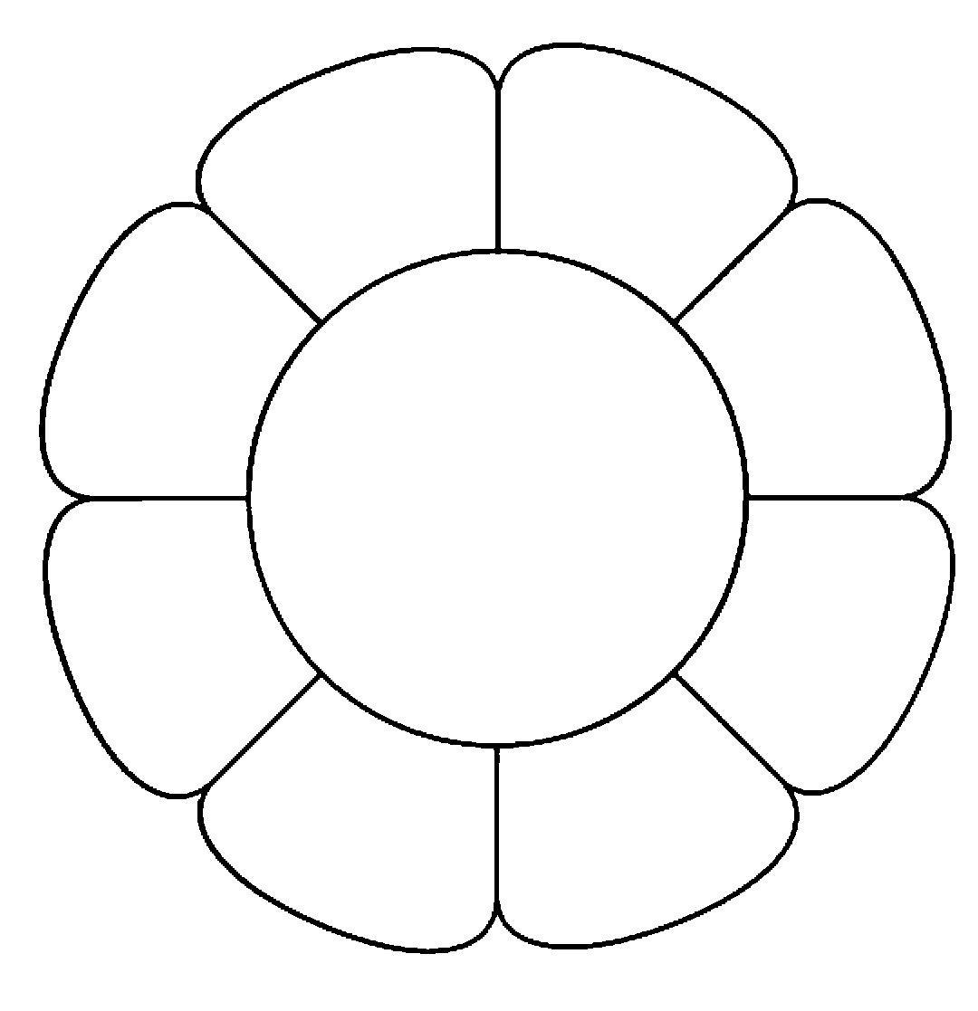 Розмальовки Квіти шаблони для вирізання