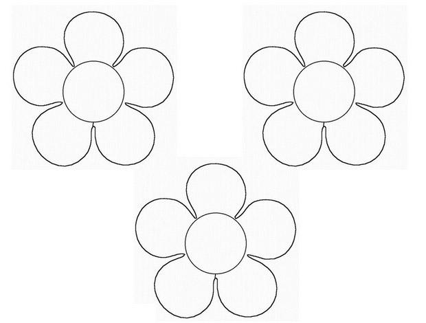 Coloring Flowers templates for cutting