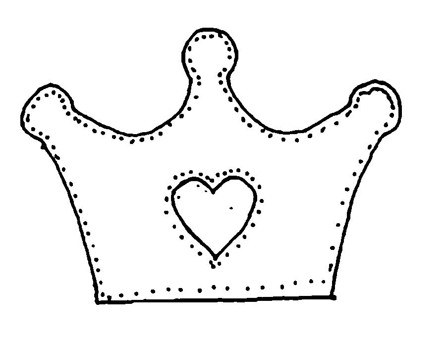 Coloring Crown  crown with heart pattern, Caron pattern paper