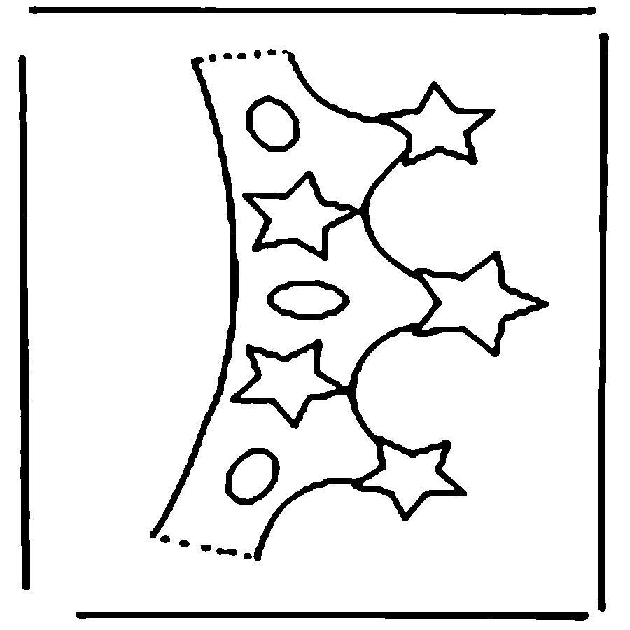 Розмальовки Корона  корона з зірками для вирізки з паперу