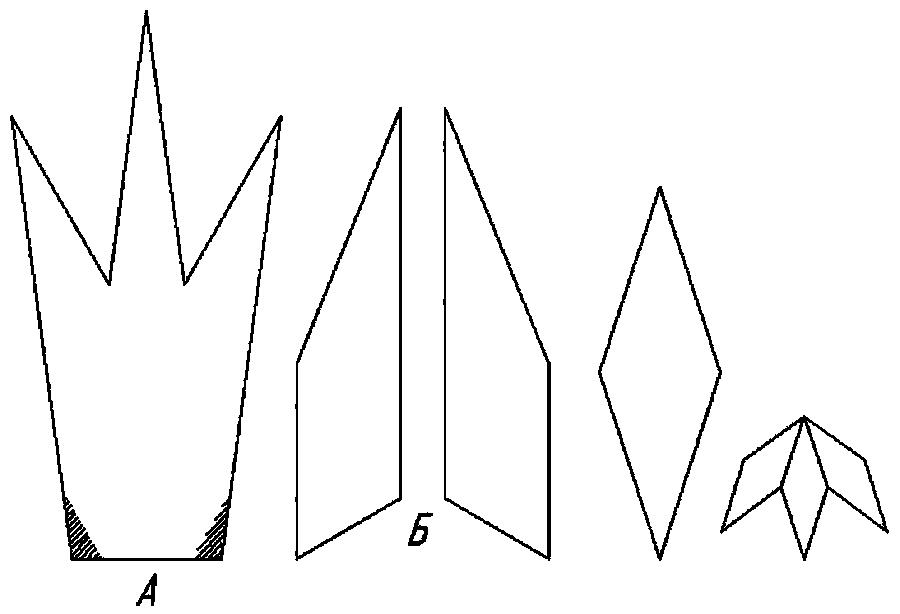 Розмальовки Корона  корона орігамі для дітей, шаблон з паперу для вирізки