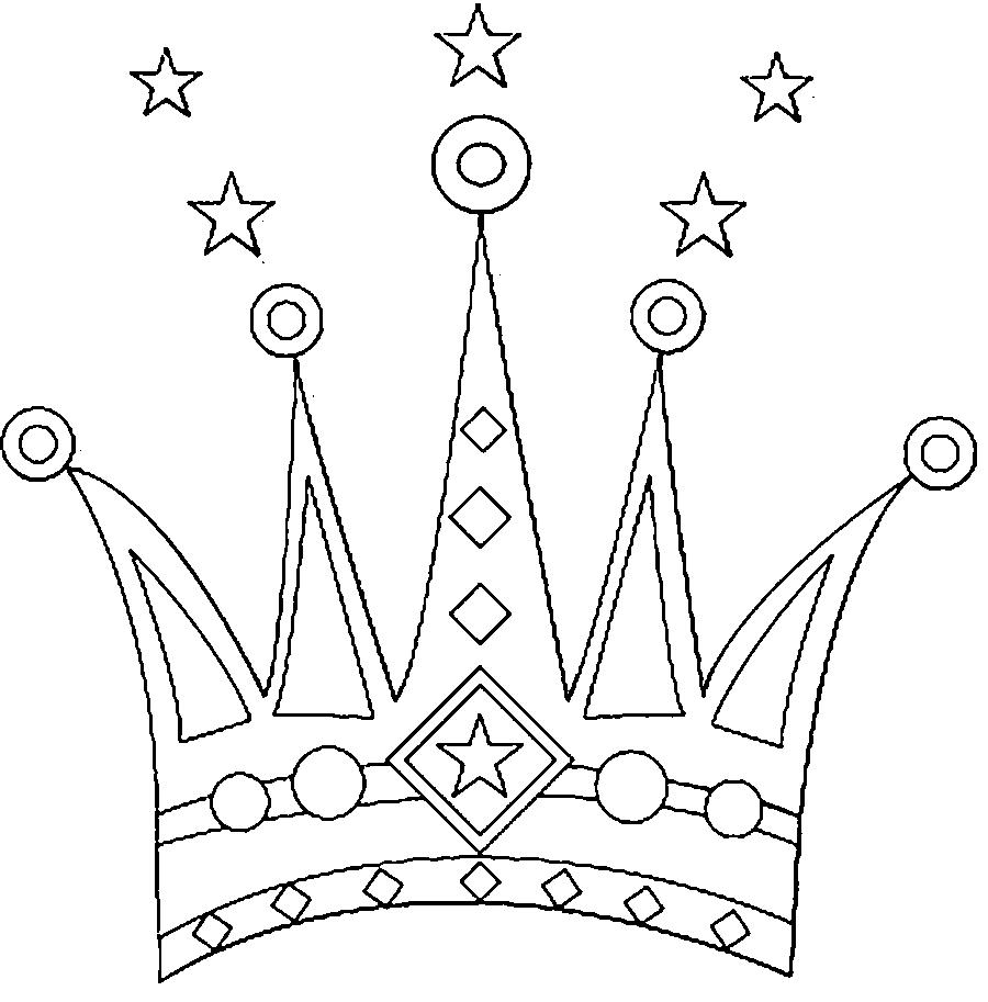Coloring Crown  very beautiful crown, a crown pattern for children